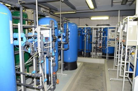 Treatment station for the waste water from galvanization.