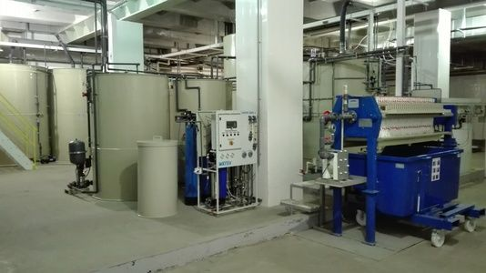 Automatic station for the treatment of waste water from casting lines