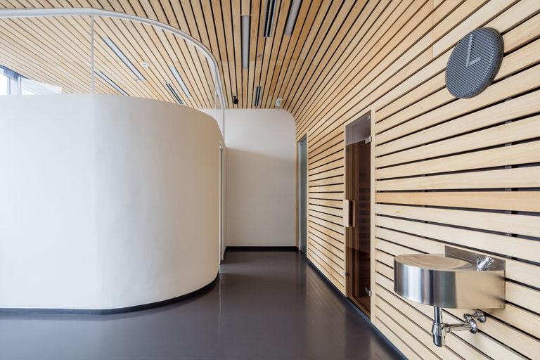 wellness - sauna s masážním koutem – Kanceláře KIWI.COM | Horalík Atelier