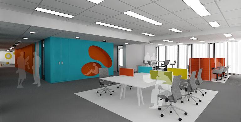 experimentální pracoviště s odpočinkovými nikami – kanceláře AVAST mobile I | Horalík Atelier