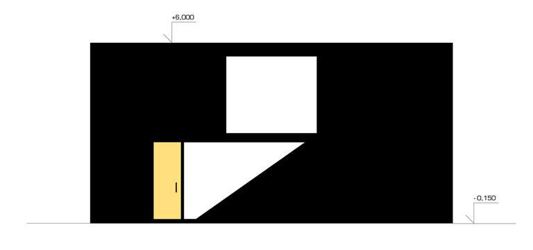pohled na vstupní fasádu – modulový dům | Horalík Atelier