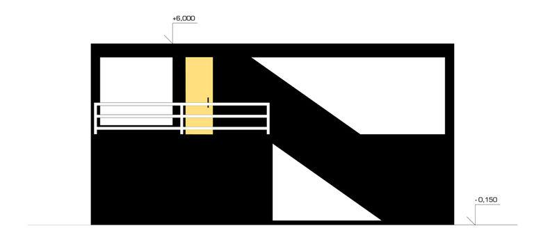 pohled na dvorní fasádu – modulový dům | Horalík Atelier