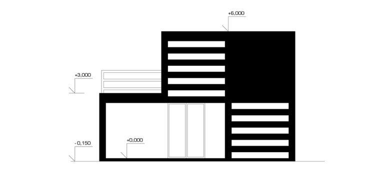 pohled boční 1 – modulový dům | Horalík Atelier