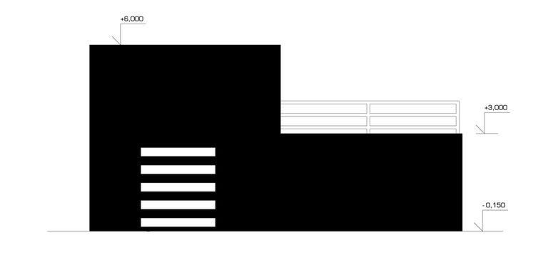 pohled boční 2 – modulový dům | Horalík Atelier