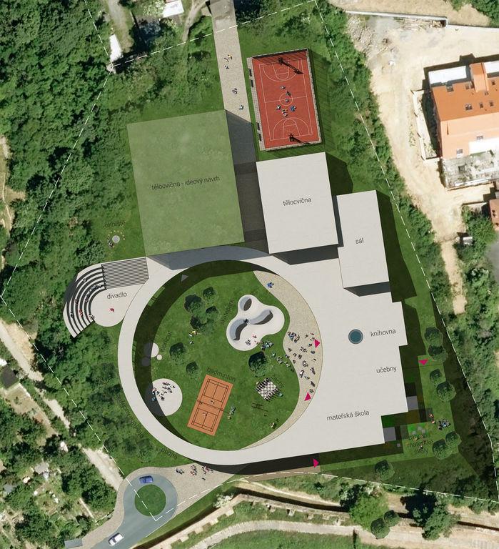 situace – Dětské sportovně - kulturní centrum Staré Brno | Horalík Atelier