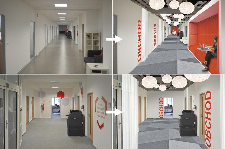 současný stav vs. návrh – kanceláře DPD | Horalík Atelier