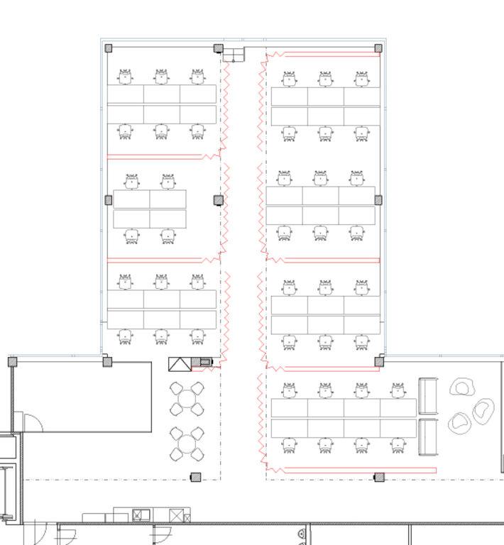návrh - rozvinuté paravány – kanceláře AVAST mobile II | Horalík Atelier