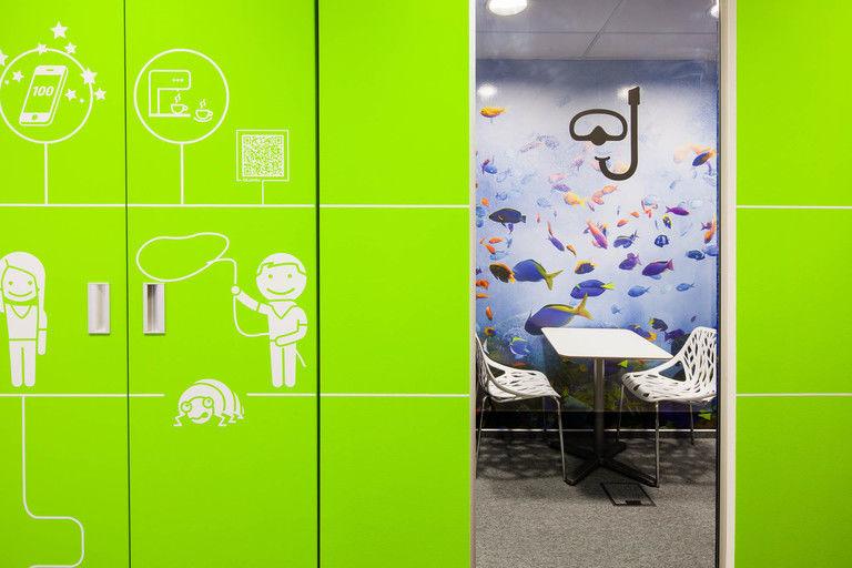 minijednací místnost vodní svět + vestavěná šatní skříň – kanceláře INMITE | Horalík Atelier