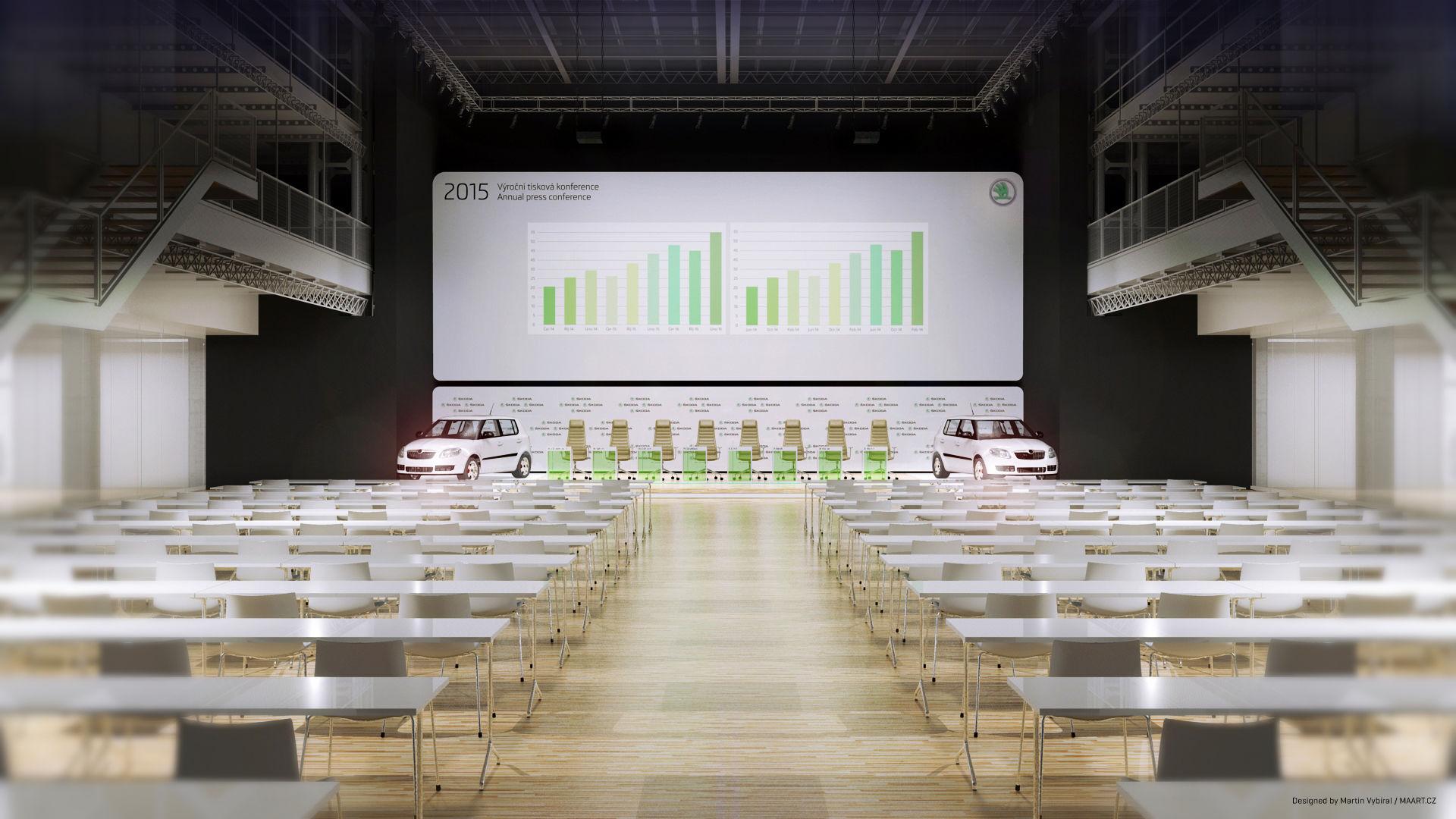 Hlavní perspektiva sálu