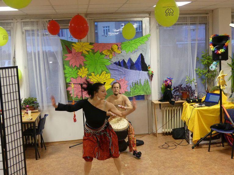 Ukázka tradičního afrického tance